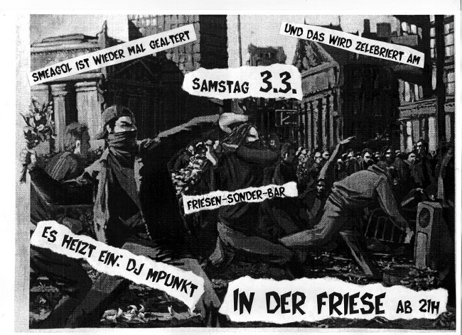 FRISEN-SONDER-BAR mit Smeagol, JUZ Friese in der Friesenstraße 124, by Friesencrew, 21:00 h.