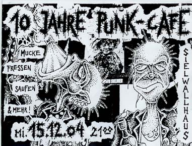 10 Jahre Punk-Cafe in Bremen, Germany