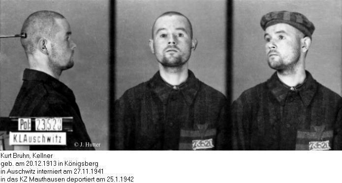 Pink Triangle Prisoner from Auschwitz Concentration Camp: Kurt Bruhn
