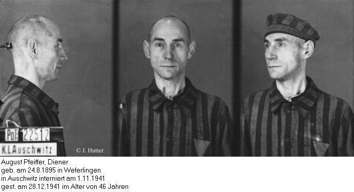 Pink Triangle Prisoner from Auschwitz Concentration Camp: August Pfeiffer
