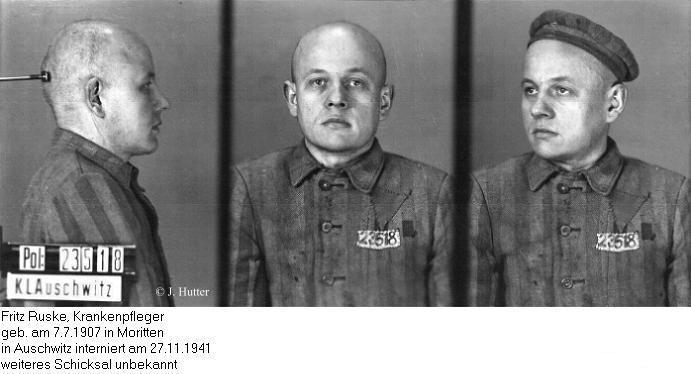 Pink Triangle Prisoner from Auschwitz Concentration Camp: Fritz Ruske