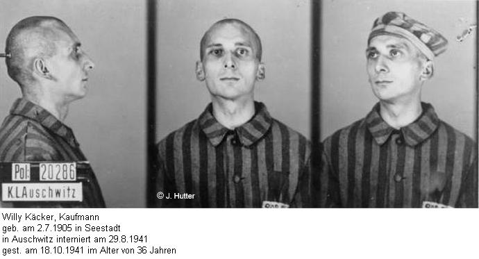 Pink Triangle Prisoner from Auschwitz Concentration Camp: Willy Käcker